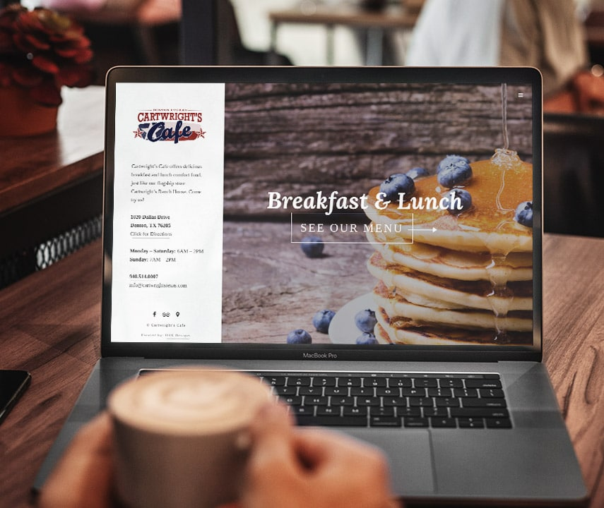 Cartwright's Cafe Website