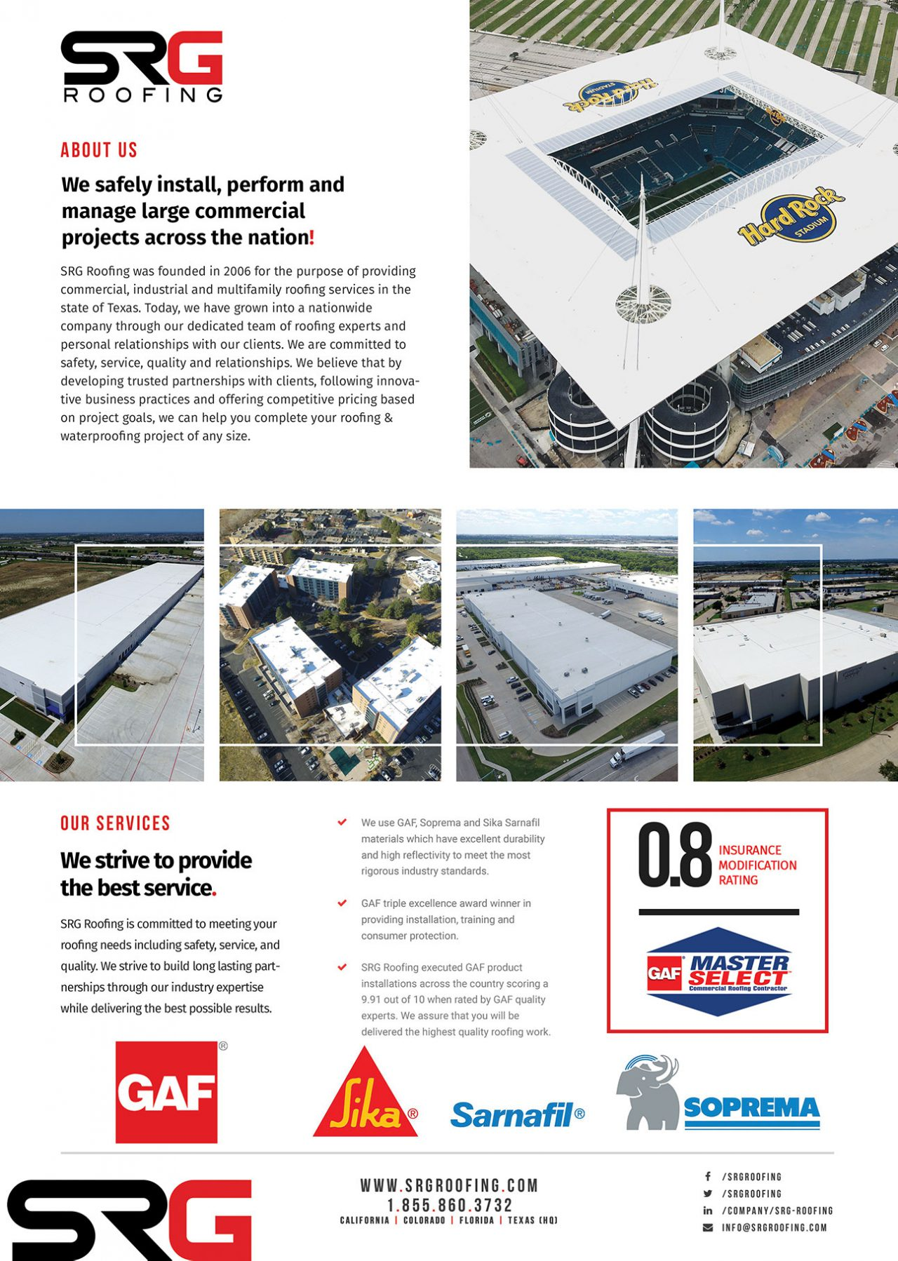 SRG Roofing Consulting Flyer