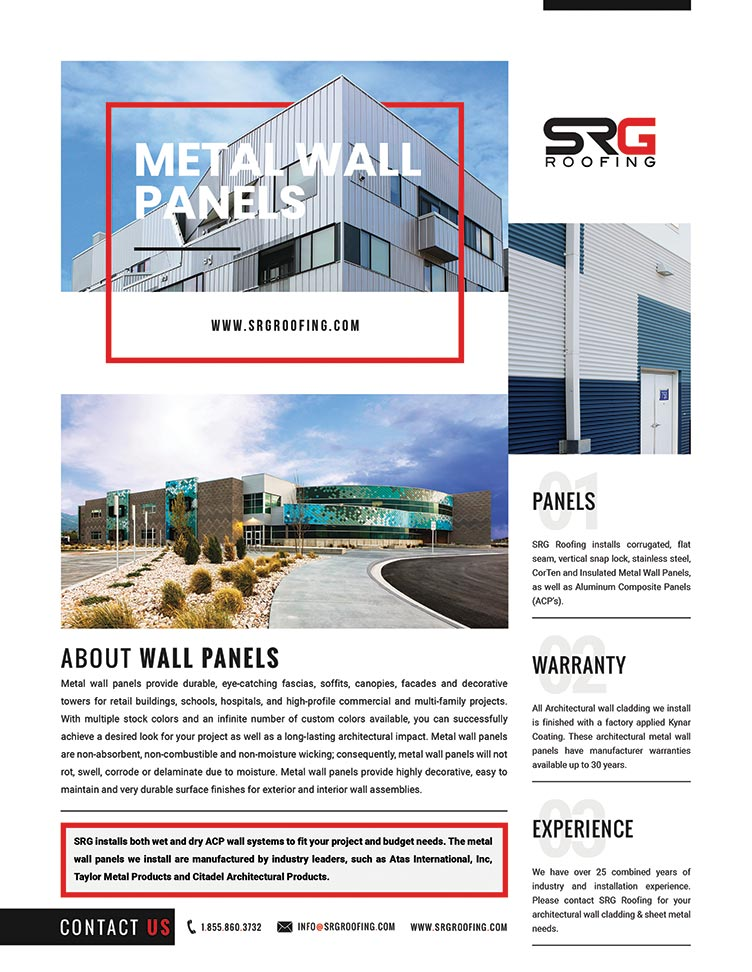 SRG Roofing Metal Wall Flyer